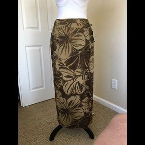 Summer set blouse and wrap long skirt.